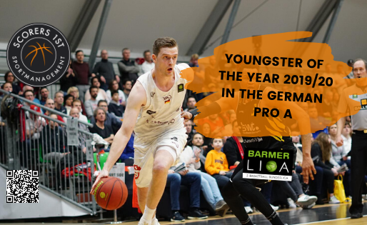 Moritz Sanders awarded Youngster Of The Year Award in the German ProA