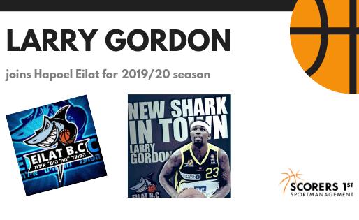 Larry Gordon joins Hapoel Eilat