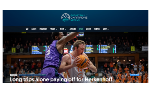 """Herkenhoff Feature"" by Dave Hein for Basketball Champions League"