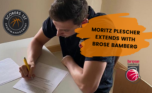 Moritz Plescher extends with Brose Bamberg
