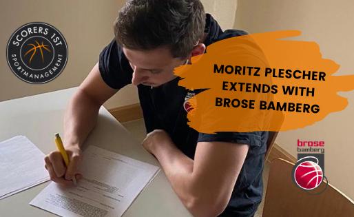 Moritz Plescher extends with Brose Bamberg