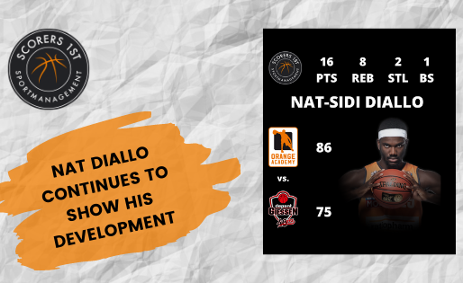 Nat Diallo showing his development for ratiopharm Ulm