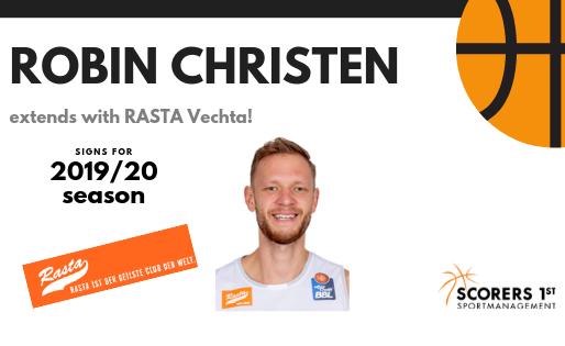 Robin Christen extends with Rasta Vechta