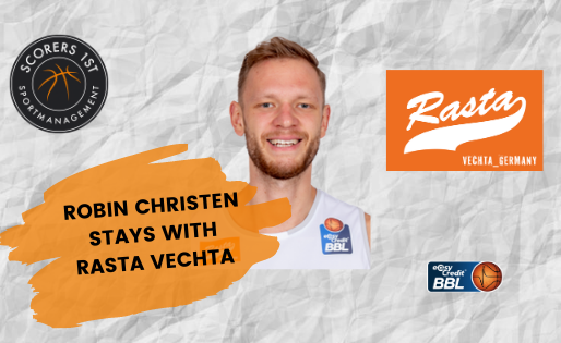 Robin Christen signs with Rasta Vechta for the 2020/21 season