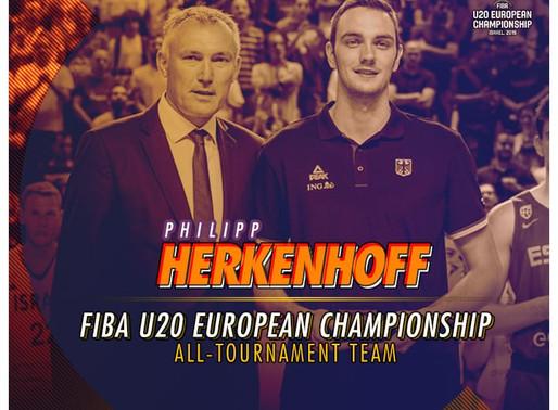Philipp Herkenhoff leads German U20 NT to 3rd place in FIBA U20 Euros