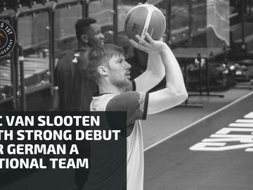 Luc van Slooten with a strong debut for German A National Team