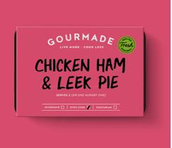 Gourmade Chicken Ham & Leek Pie serves 1
