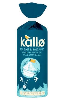 Kallo Sea Salt & Balsamic Vinegar Rice & Corn Cakes
