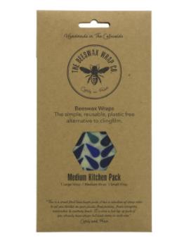 Beeswax Wraps Medium Kitchen Pack