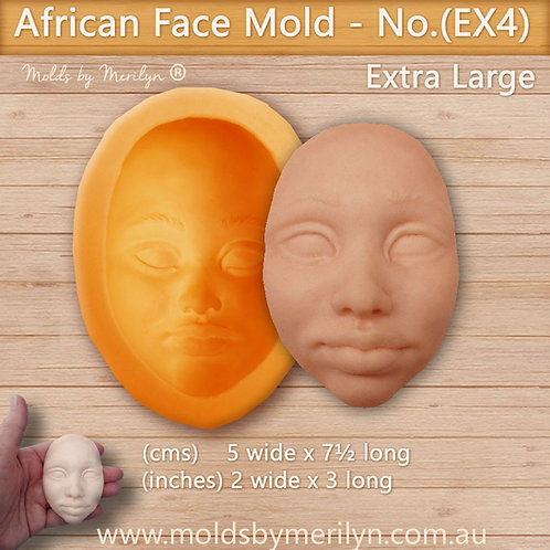 EX4 - African face flexible push mold - extra large