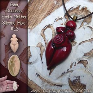 Red Goddess Pendant mold