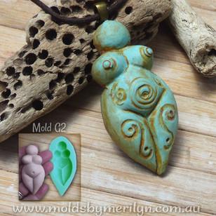 Earth Mother Goddess Pendant Mold