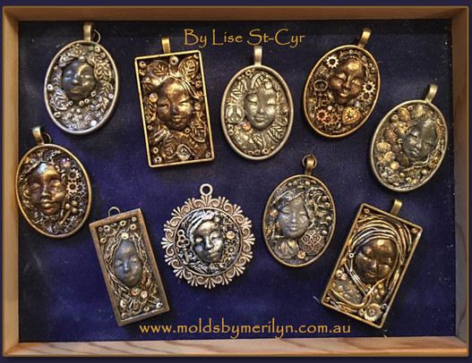 Pendants made with Paverpol