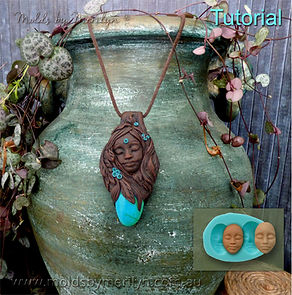 Goddess Pendant Tutorial for Polymer Clay