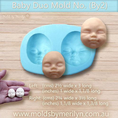 By2 - Two baby face molds