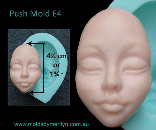 Silicone Push mold face for Polymer Clay