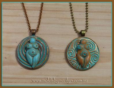 Goddess Silicone mold pendant.jpg