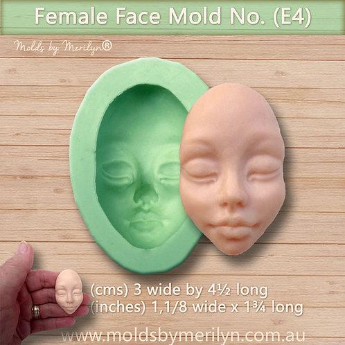 E4 - Elegant female face mold