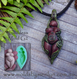 Goddess Mold Pendant with Leaves