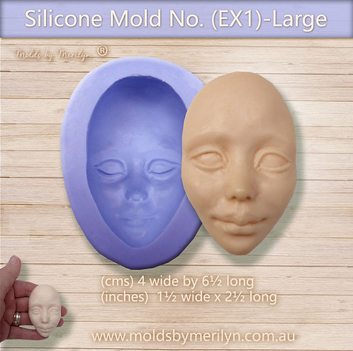 EX1-Nordic or Ethnic Silicone Mold face