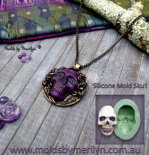 Skull Pendant Silicone mold