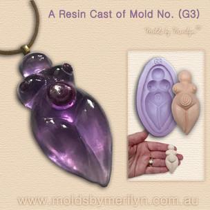 Resin cast Goddess of Mold G3