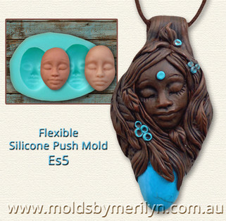 Tribal Ethnic Push Mold Pendant in Polymer