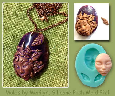 Polymer Clay with Silicone push Mold Pix