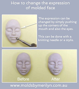How to change to face on any of my molded faces.