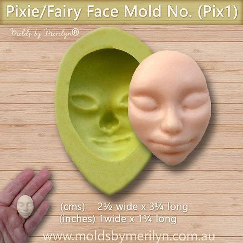 Pix1 - Pixie Fairy Silcione  Mold face