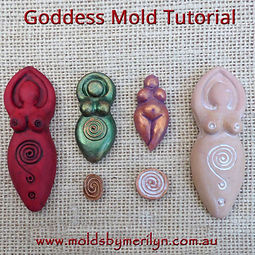 How to cast  the Goddess Molds with Polymer Clay Tutorial.