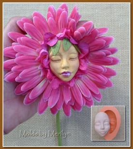 Silicone Push Mold face E4 flower