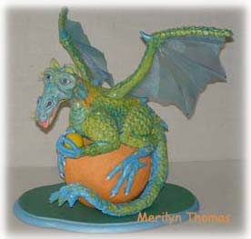 Taco the dragon in Polymer Clay .jpg