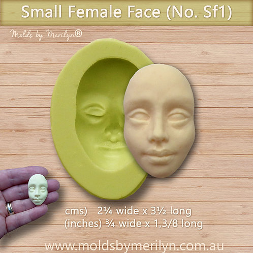 Sf 1 - Small Female Face Craft Mold