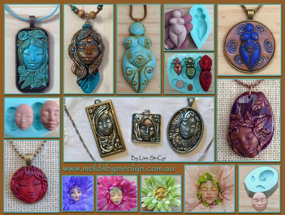 Jewlery silicone push mold pendants.jpg