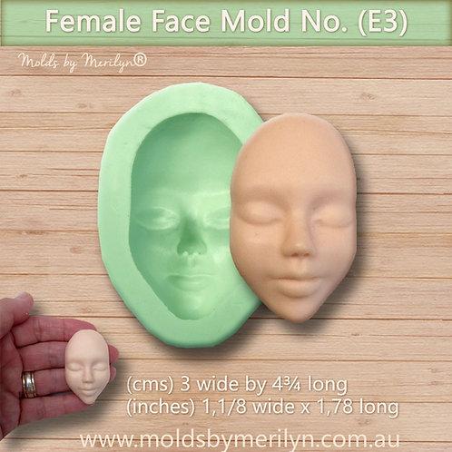 E3 - Female face mold