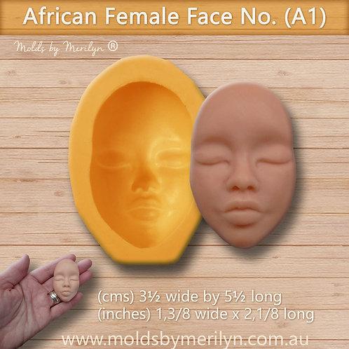 A1 - African face mold - medium