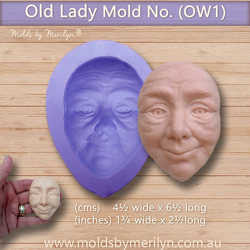 OW1 - Old woman's face mold