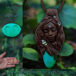 Goddess Wild Woman Pendant - mold (Es5)