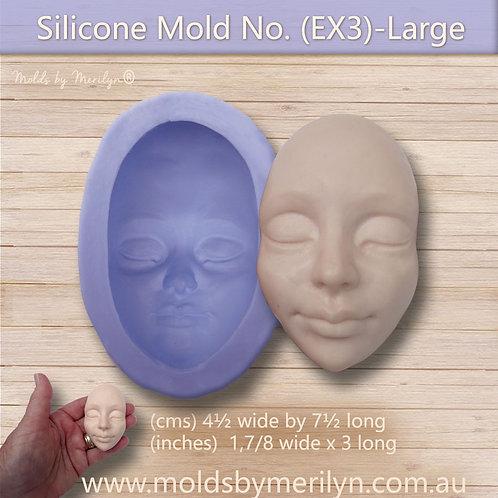 EX3 -Female Flexible Push Mold face extra large