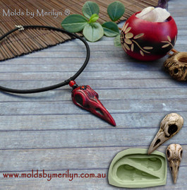 Gothic Raven Skull silicone mould