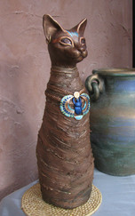Egyptian cat with clay and paverpol