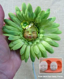 Baby flexible mold face flower
