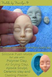 Silicone female push mold face  E4