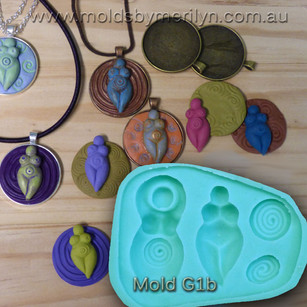 Goddess Pendants Flexible Mold