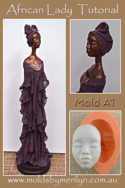 African Lady mold Tutorial Paverpol Mold A1