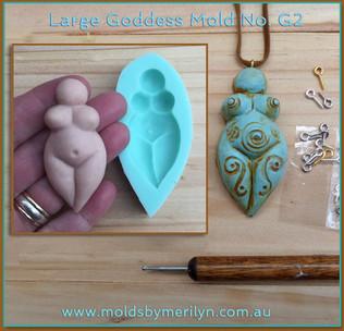Goddess flexible silicone mold G2 Rustic