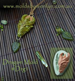 Green fantasy dragon pendant