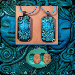 Asian face pendant with Polymer Clay.jpg