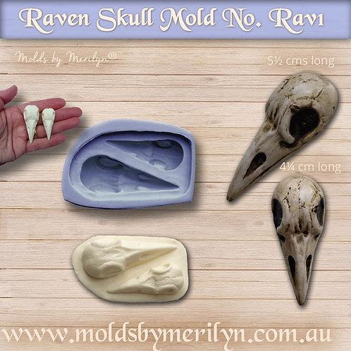 Rav1 - Raven Skull Mold